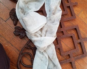Rust Print  wool scarve