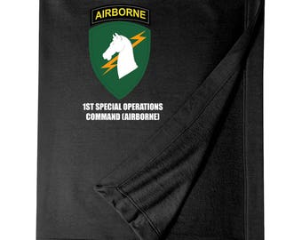 1st Special Operations Command Embroidered Blanket-6828