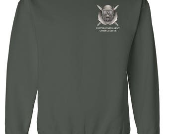 US Army Combat Diver Embroidered Sweatshirt-7689