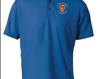 25th Infantry Division -Embroidered Moisture Wick Polo Shirt -3611