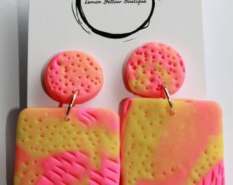 Bubblegum Square Pink/Yellow #2