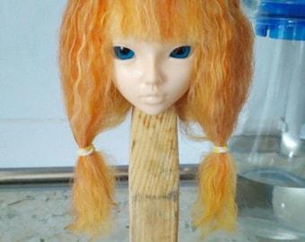 """Sale Wigs on Minifee, bjd ,MSD ,MNF, 7-8"""" wig,Size 7-8"""",goat wig,natural goat,minifee, wig minifee"""