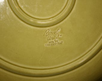 Russel Wright Chop Plate, Chartreuse RW3