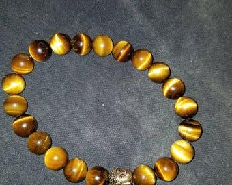Tiger eye beaded bracelet