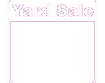 Yard Sale (Sign)