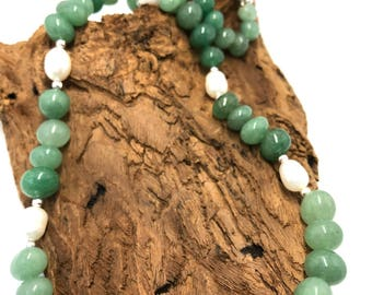 Jade and Pearl necklace