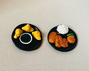 Dollhouse miniature food, Dollhouse Miniature Indian snacks, 1:12 Scale, realistic looking polymer clay food