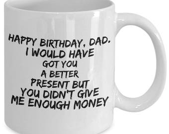 Dad Birthday Gift - Gift From Kids - Dad From Children - Funny Mug For Dad - From Son From Daughter - White Ceramic Tea Coffee Cup 11oz 15oz