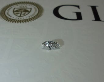 0.20 GIA Certified D SI2 Marquise Loose Natural Diamond