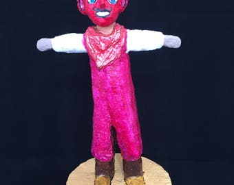 The Devil, paper mache figure