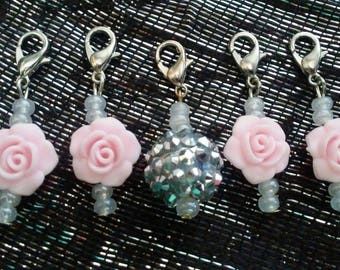 Rose Crochet Stitch Markers