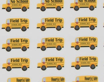 40 school bus stickers, no school sticker, field trip stickers,planner stickers for mom,stickers for teacher, planner stickers ------M154P