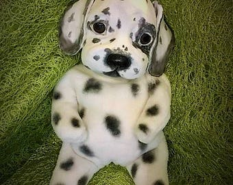 sclupture,puppy,dalmatian,handmade,dog,