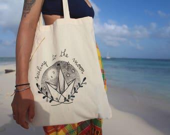 "Tote Bag ""Sailing to the moon"""