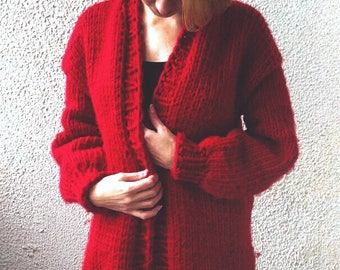 Knitting wool cardigan