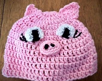 Children's Pig Hat