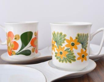 Scandinavian Mid-century Stavangerflint 'May' 4oz. espresso coffee tea cup / Vintage / Norway / Inger Waage