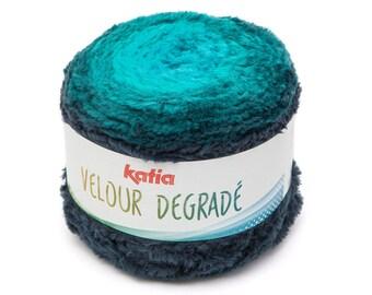 Velour Yarn, Multi colored yarn, Variegated cotton, Katia Yarn,  Self striping yarn, Katia Velour, Baby Clothes Yarn,  Yarn For Scarf
