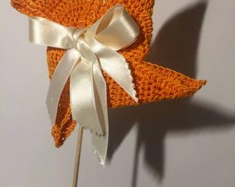 Crocheted handmade main.creation windmill.