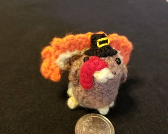Tiny Turkey Brooch