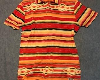 POLO Ralph Lauren Aztec Serape Southwestern short sleeve polo