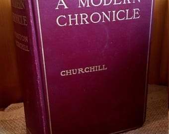 A Modern Chronicle by Churchill, Antique book