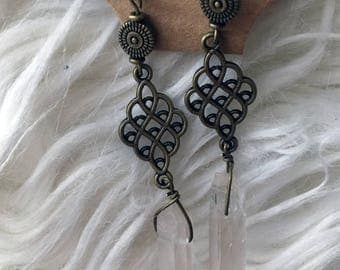 Hanging Crystal Earrings