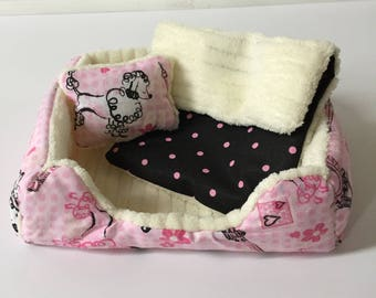 "18"" Doll Pet Bed/3pc. Pet Bed Set/Doll Pet Bed/American Girl Furry Friend/Paris Ped Bed"
