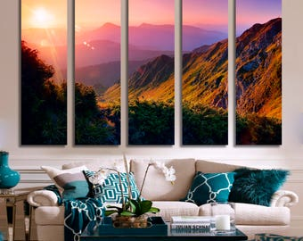 Sunset Wall Art Mountains Canvas Print Mountains Large Wall Decor Mountains Canvas Mountains Poster Print Mountains Bedroom Decor Ideas