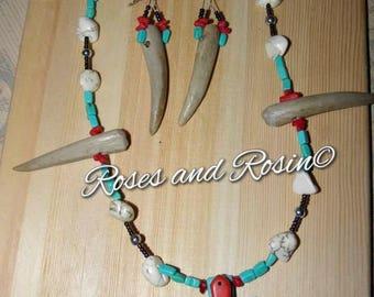 Antler Cross Necklace