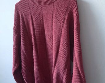 Vintage Pink Oversized Sweater