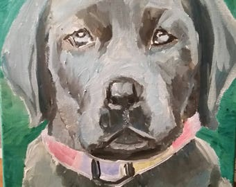 Custom Personalized Acrylic Painting Portraits of Pets and People
