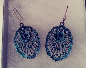 Blue Lattice Earrings