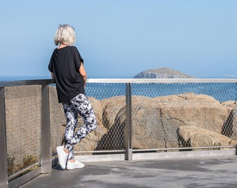 Leggings / Yoga Leggings / Sport Clothing / Pilates Leggings /Women's Fashion Leggings / Monochrome Leggings / Tights / Women Activewear