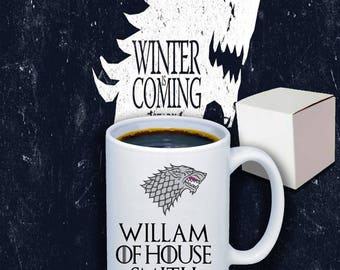 Personalised Game Of Thrones 11oz Coffee Mug