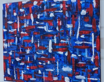 Abstract Modern Canvas - Hand Painted Acrylic