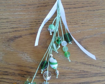 Green Keyring or bag charm