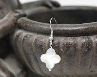 Silver LUCKY earrings