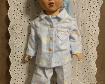 "Blue Pajamas for 18"" Doll_Clothes for Dolls"