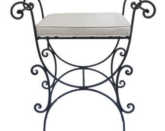 Handcrafted Moroccan wrought iron Foot Stool Foot