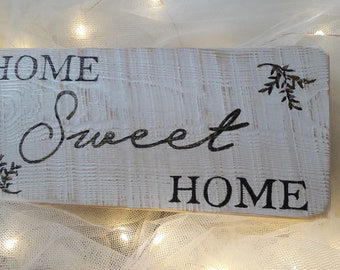 Wood home decor sign