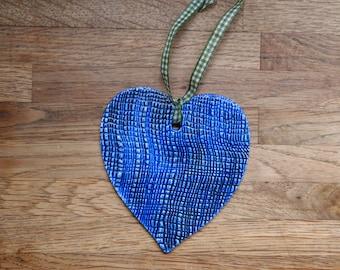 1 Hanging Ceramic Heart
