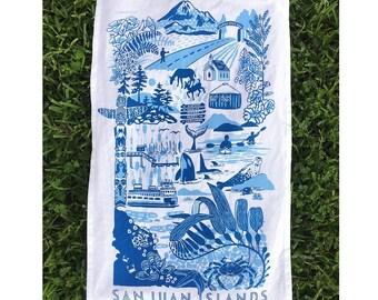 San Juan Islands Tea Towel