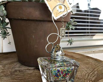 Vintage Glass S/P Shaker Photo Holder/Paperweight
