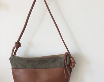 Leather and Linen Lightweight Bag - Mitte bag
