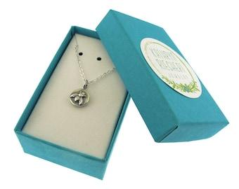 Little Bee Necklace, sterling silver bee charm by Kathryn Riechert
