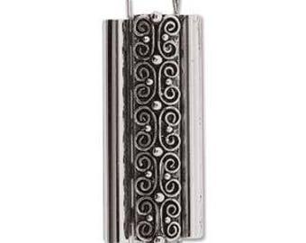 Elegant Elements Beadslide Clasp, Squiggle Design, 10mm x 29mm - CHOOSE YOUR METAL (Antique Brass, Antique Silver, or Antique Gold)