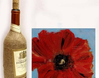 Poppy Painting, Red Poppy, Original Painting, Original Art, Winjimir, Home Decor, Office, Wall Art, Painting, Spring, Garden Art, Gift
