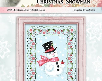 2017 Christmas Snowman Cross Stitch Mystery Stitch Along by Pamela Kellogg