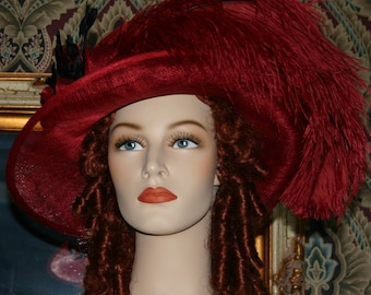 Edwardian Hat Ascot Hat Kentucky Derby Hat Tea Hat Titanic Hat Somewhere in Time Hat Downton Abbey Hat - Lady Sherrie - One of a Kind